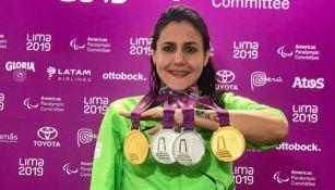 Vianney Trejo, con sus medallas ganadas en Lima 2019