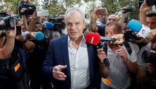 Javier Aguirre tras salir de la primera jornada del juicio por amaño