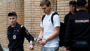 Alexandr Kokorin custodiado por autoridades rusas