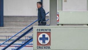 Peláez, en un entrenamiento de Cruz Azul