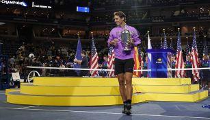 Rafael Nadal, tras ganar el US Open