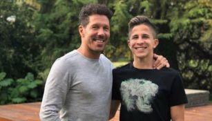 Diego Simeone junto a su hijo Giuliano Simeone