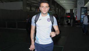 Jonathan Rodríguez, en el aeropuerto