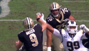 El momento exacto de la lesión de Drew Brees