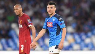 Chucky Lozano fue titular con el Napoli ante el Campeón Liverpool