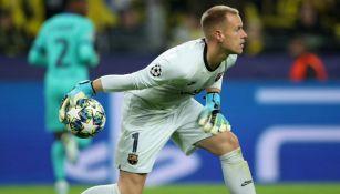 Ter Stegen, en el juego entre Dortmund y Barcelona