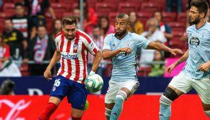 Héctor Herrera durante el partido ante el Celta de Vigo