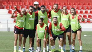 Futbolistas de del Atlético de Madrid y del Atlético de Madrid femenil