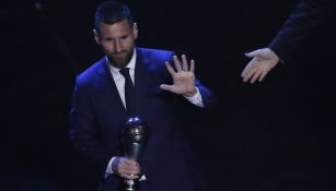 Lionel Messi durante la gala de los premios The Best