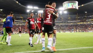 Atlas festeja un gol en el Jalisco