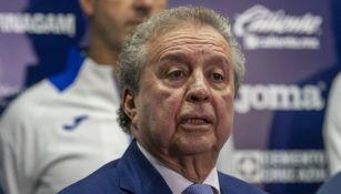 Víctor Garcés, durante una entrevista