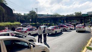 Taxistas bloqueando las vialidades de la CDMX