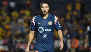 Bruno Valdez en un juego con el América en el Apertura 2019