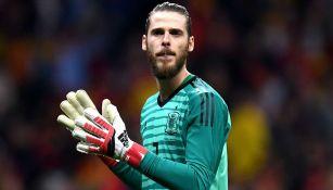 De Gea en un juego con la Selección de España