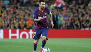 Leo Messi, durante un duelo con el Barcelona en España
