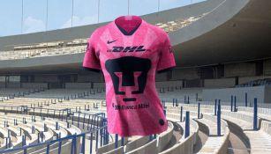 Diseño del jersey que Pumas femenil usará en apoyo a la lucha contra el cáncer de mama