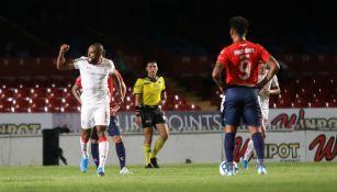 William Da Silva celebra su gol ante Veracruz