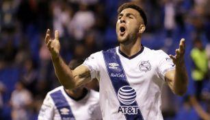 Lucas Cavallini, durante un partido del Puebla