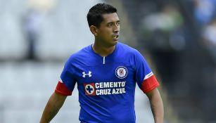 Elías Hernández, en un juego de Cruz Azul