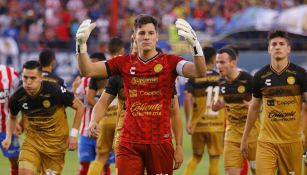 Gaspar Servio, durante un duelo con los Dorados