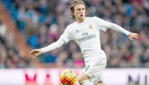 Luka Modric durante un juego del Real Madrid