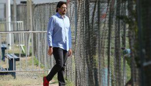 Amaury Vergara, en una visita a Verde Valle
