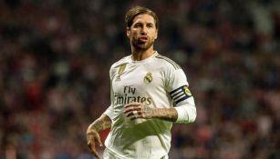 Sergio Ramos, durante un duelo con el Real Madrid
