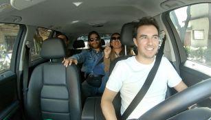 Checo Pérez como conductor de Uber