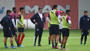 Luis Fernando Tena dirige un entrenamiento en Verde Valle