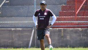 Chima Ruiz durante un entrenamiento de la Selección Mexicana
