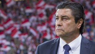 Luis Fernando Tena en un juego de Chivas