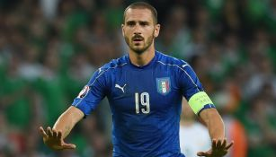 Leonardo Bonucci durante un juego de Italia