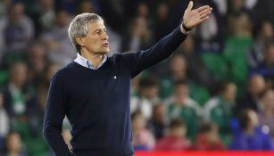 Quique Setién, exentrenador del Real Betis