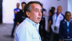 Emilio Azcárraga, en un juego del América en el Estadio Azteca