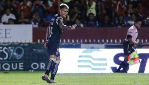 Nicolás Castillo festejando un gol con América