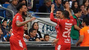 Jugadores de Veracruz festeja un gol vs Rayados