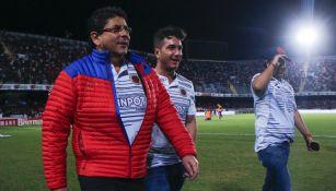 Fidel Kuri en el partido entre Veracruz y América
