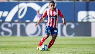 El 'Perrito' Sánchez durante un partido del San Luis