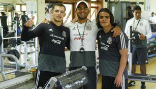 Eugenio Pizzuto y Bruce El Mesmari durante una práctica del Tri Sub 17