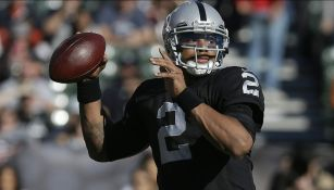Terrelle Pryor cuando era quarterback de los Raiders