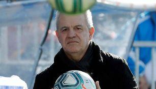 Javier Aguirre, durante un partido del Leganés