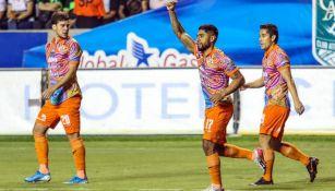 Cisneros, en festejo de gol ante Zacatepec