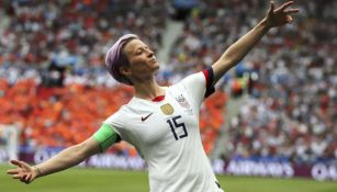 Megan Rapinoe, en festejo en el Mundial
