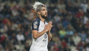 Pizarro, en un partido de Monterrey