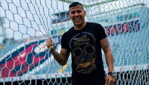 Carlos Salcido, en el Estadio Luis 'Pirata' Fuente
