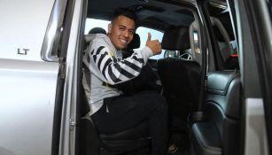 Saucedo, a su llegada al aeropuerto de la CDMX