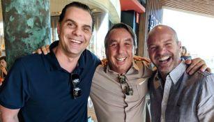 Christian Martinoli y Luis García, con Emilio Azcárraga, dueño de Televisa