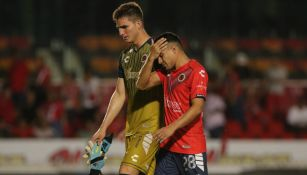 Jugadores de Veracruz en lamento