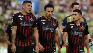 Jugadores de Veracruz al termino de un partido