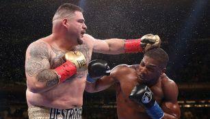 Andy Ruiz en la pelea ante Anthony Joshua